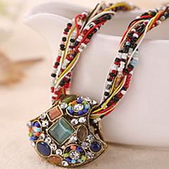 preiswerte Halsketten-Damen Kristall Anhängerketten - Krystall Luxus, Party, Büro Blau, Hellblau, Khaki Modische Halsketten Für Normal / Edelstein