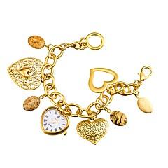 preiswerte Damenuhren-ASJ Damen Modeuhr Armband-Uhr Japanisch Quartz Japanischer Quartz Silber / Gold 30 m / Analog damas Heart Shape - Silber Golden