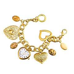 preiswerte Herrenuhren-ASJ Damen Modeuhr / Armband-Uhr Japanisch / Legierung Band Heart Shape Silber / Gold