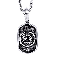 Муж. Ожерелья с подвесками В форме животных Лев Нержавеющая сталь Панк Бижутерия Назначение Повседневные