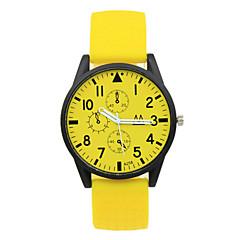 お買い得  大特価腕時計-女性用 リストウォッチ カジュアルウォッチ ラバー バンド キャンディ / ファッション ブラック / 白 / ブルー