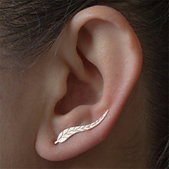 cheap Earrings-Women's Stud Earrings - Leaf Natural, Fashion, Balance of the Power Silver / Golden For Daily / Casual