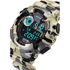 SANDA Męskie Sportowy Zegarek cyfrowy Kwarcowy Cyfrowe Kwarc japoński LCD Kalendarz Wodoszczelny alarm Świecący Stoper Guma Pasmo