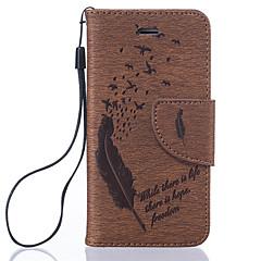 Назначение iPhone 8 iPhone 8 Plus Кейс для iPhone 5 Чехлы панели Бумажник для карт Флип С узором Чехол Кейс для  Перья Твердый