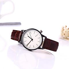 お買い得  大特価腕時計-女性用 クォーツ リストウォッチ カジュアルウォッチ レザー バンド チャーム ファッション ブラック ブラウン