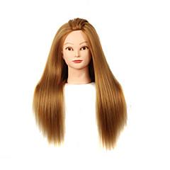 お買い得  人工毛ウィッグ-メイクアップと焼き合成ヘアサロン女性のマネキンの頭部
