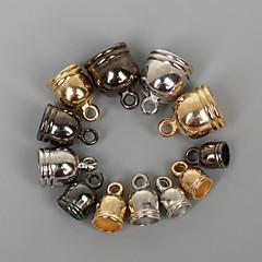 beadia 50db 6x9mm CCB műanyag zárókupakok krimp gyöngyöket borító arany&vörös-&ródium bevonatú (4mm lyuk)