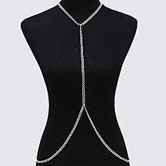 abordables Joyería Corporal-Cinturones metálicos / Para Cuerpo - Chapado en Oro Europeo, Estilo Simple, Bikini Mujer Dorado / Plata Joyería Corporal Para Diario / Casual