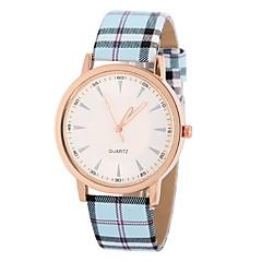 voordelige Bekijk deals-Dames Modieus horloge Kwarts Vrijetijdshorloge PU Band Streep Blauw Kaki