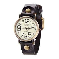 preiswerte Tolle Angebote auf Uhren-Damen Armbanduhr Armbanduhren für den Alltag Leder Band Retro / Freizeit / Eiffelturm Schwarz / Blau / Rot