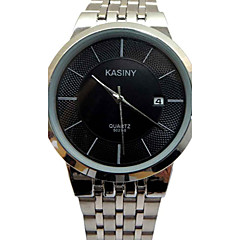 preiswerte Herrenuhren-Herrn Armbanduhr Armbanduhren für den Alltag Edelstahl Band Charme / Modisch Silber