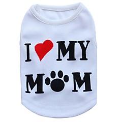 お買い得  犬用ウェア&アクセサリー-ネコ 犬 Tシャツ 犬用ウェア 花/植物 ホワイト テリレン コスチューム ペット用 男性用 女性用 ファッション
