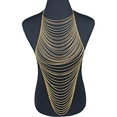 Gold Plated Multilayer Tassel Body Chain Wedding / Party / Daily 1pc Christmas Gifts