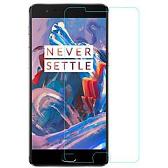 olcso Képernyő védők-Képernyővédő fólia OnePlus mert Edzett üveg 1 db Kijelzővédő fólia Ultravékony Robbanásbiztos Tükör 9H erősség High Definition (HD)
