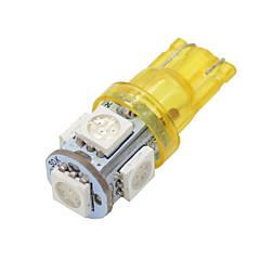 voordelige -4x 168 t10 amber gele hoog vermogen 5050 chip interieur 5 LED-lampen W5W 194