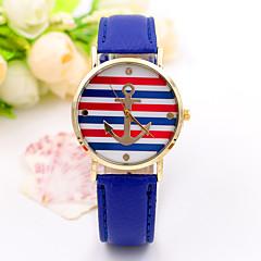 preiswerte Tolle Angebote auf Uhren-Damen Armbanduhren für den Alltag / Modeuhr / Leder Band Freizeit / Streifen Gold
