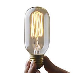 billige LED & Belysning-UMEI™ 1pc 40W E27 E26 / E27 T45 2300k Glødende Vintage Edison lyspære 220-240V