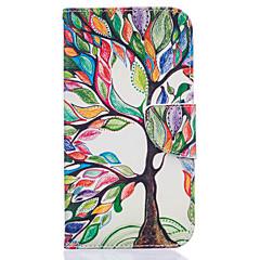 For Motorola etui Pung Kortholder Med stativ Flip Etui Heldækkende Etui Træ Hårdt Kunstlæder for Motorola Andet
