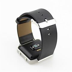 Черный / Синий / Коричневый / серый Кожа Классическая застежка / Кожаный ремешок Для Fitbit Смотреть 23мм