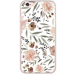 Назначение iPhone X iPhone 8 iPhone 6 iPhone 6 Plus Чехлы панели Защита от удара Защита от пыли С узором Задняя крышка Кейс для Цветы