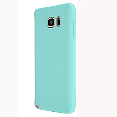 Недорогие Чехлы и кейсы для Galaxy Note 5-Кейс для Назначение SSamsung Galaxy Samsung Galaxy Note Кейс на заднюю панель Однотонный ТПУ для Note 5 / Note 4 / Note 3