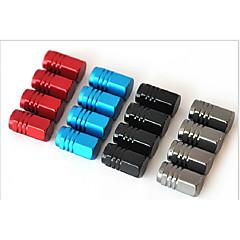 abordables Piezas para el Coche-aleación de aluminio de tapa de la válvula del automóvil casquillo del casquillo de válvula del neumático de automóvil del producto tapa