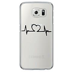 Varten Samsung Galaxy S7 Edge Ultraohut / Läpinäkyvä Etui Takakuori Etui Sydän Pehmeä TPU SamsungS7 edge / S7 / S6 edge plus / S6 edge /