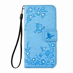 Χαμηλού Κόστους Θήκες iPhone 7-tok Για Apple iPhone 6 iPhone 6 Plus Θήκη καρτών Πορτοφόλι Στρας με βάση στήριξης Πλήρης Θήκη Πεταλούδα Σκληρή PU δέρμα για iPhone 7 Plus