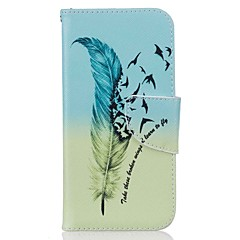 Недорогие Кейсы для iPhone 7 Plus-Кейс для Назначение iPhone 7 Plus IPhone 7 Apple Бумажник для карт Кошелек со стендом Чехол  Перья Твердый Кожа PU для iPhone 7 Plus