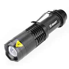 פנס LED פנסי יד לייזר 1000 lm 3 מצב - LED מיני עמיד במים Zoomable ל מחנאות/צעידות/טיולי מערות שימוש יומיומי סוללות אינן כלולות שחור