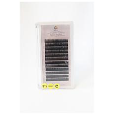 A box has 12 rows of eyelashes Pestañas Pestaña Pestañas Individuales Ojos / Pestaña Longitud Natural Extendido / Denso Half Handmade