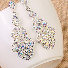 preiswerte Ohrringe-Damen - Strass, Diamantimitate Tropfen Erklärung, Luxus, Europäisch Regenbogen Für Hochzeit Alltag Normal