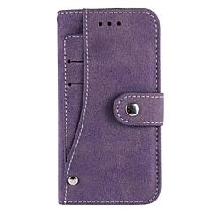 Назначение iPhone 8 iPhone 8 Plus iPhone 6 iPhone 6 Plus Чехлы панели Бумажник для карт Кошелек Чехол Кейс для Сплошной цвет Мягкий