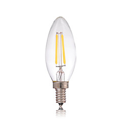 cheap LED Bulbs-Dimmable 2W E14 180LM LED Filament Lamp Edison Glass Candle Lights Lighting For Chandelier(AC220-240V)