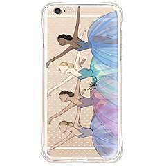 Недорогие Кейсы для iPhone 6 Plus-Кейс для Назначение Apple iPhone 6 iPhone 6 Plus Защита от пыли Защита от удара Прозрачный Кейс на заднюю панель Соблазнительная девушка