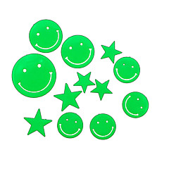 cheap -Romantic House Absorptiometric Night Lights Stickers-Smiling Face and Stars