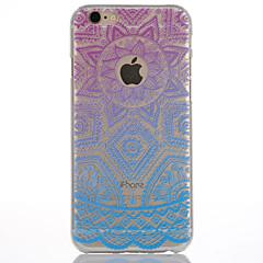 Для Кейс для iPhone 6 Кейс для iPhone 6 Plus Полупрозрачный Other Кейс для Задняя крышка Кейс для Цветы Твердый PC для AppleiPhone 6s