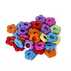 beadia 모듬 된 색상 아크릴 구슬 14mm 꽃 플라스틱 스페이서 느슨한 비즈 (50g / 약 115pcs)