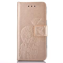 For iPhone 7 etui iPhone 6 etui Pung Kortholder Med stativ Flip Præget Mønster Etui Heldækkende Etui Andet Blødt Kunstlæder for Apple
