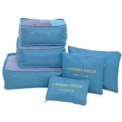 6 مجموعات حقيبة السفر منظم أغراض السفر حقيبة أدوات تجميل للسفر مكعبات الترتيب المحمول قابلة للطى مضاعف تخزين السفر سميك سعة كبيرة إلى