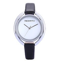 REBIRTH Dame Modeur Armbåndsur Quartz / PU Bånd Minimalistisk Afslappet Elegante Sort Hvid