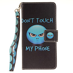 Painted Anger Pattern Card Can Lanyard PU Phone Case For Sony Z2 Z3 Z3mini M4