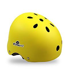 tanie -KUYOU Kask na deskorolkę Dla dorosłych Kask CE Certyfikacja Sportowy Młodzieżowy na Kolarstwo Deskorolka Łyżworolki Black Orange Yellow
