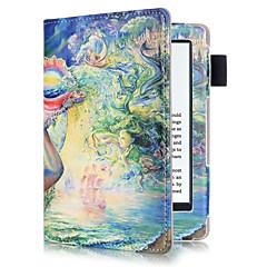 お買い得  タブレット用ケース-ケース 用途 Amazon フルボディーケース / タブレットケース 油絵 ハード PUレザー のために