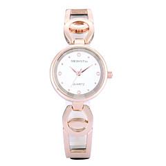 preiswerte Damenuhren-REBIRTH Damen Quartz Armbanduhr / Armbanduhren für den Alltag Rose Gold überzogen PU Band Freizeit Elegant Modisch Schwarz