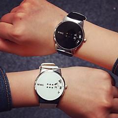 preiswerte Armbanduhren für Paare-Damen Modeuhr / Armbanduhr Schlussverkauf / / PU Band Freizeit Schwarz / Weiß