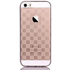 お買い得  iPhone 5S/SE ケース-ケース 用途 iPhone 5 Apple iPhone 5ケース 半透明 パターン バックカバー 幾何学模様 ソフト TPU のために iPhone SE/5s iPhone 5
