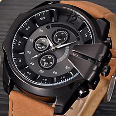 Homens Relógio de Moda Relógio de Pulso Relógio Esportivo Relógio Militar Relógio Elegante Quartzo Calendário Punk Couro Banda Vintage