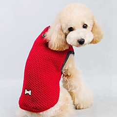 Cat Dog Sweater Vest Dog Clothes Casual/Daily Keep Warm Solid Red Blue Costume For Pets
