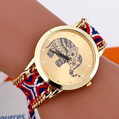 preiswerte Tolle Angebote auf Uhren-Damen Armband-Uhr Handgemacht / Armbanduhren für den Alltag Stoff Band Blume / Böhmische / Modisch Schwarz / Ein Jahr / Tianqiu 377